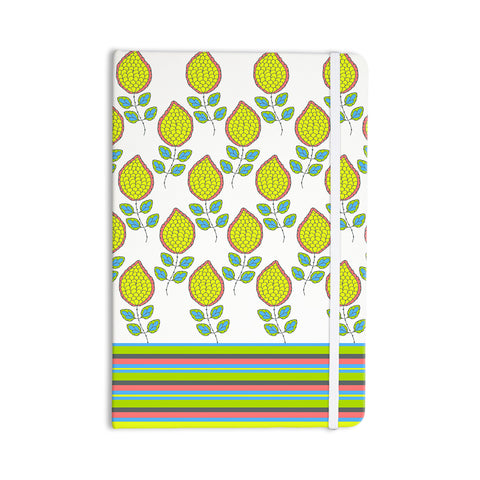"Nandita Singh ""Yellow Leaves"" Bright Floral Everything Notebook - KESS InHouse  - 1"