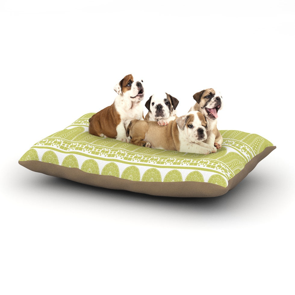 "Nandita Singh ""Tribal"" Green Pattern Dog Bed - KESS InHouse  - 1"