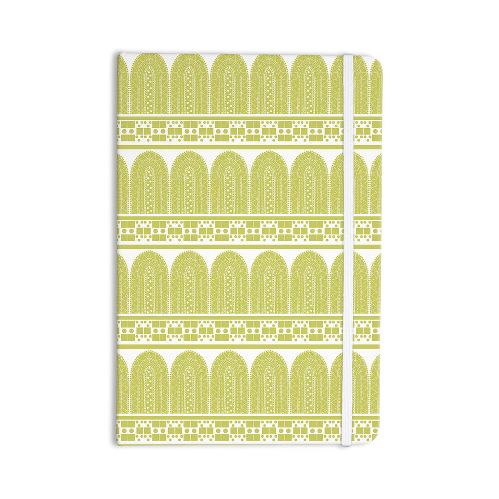"Nandita Singh ""Tribal"" Green Pattern Everything Notebook - KESS InHouse  - 1"