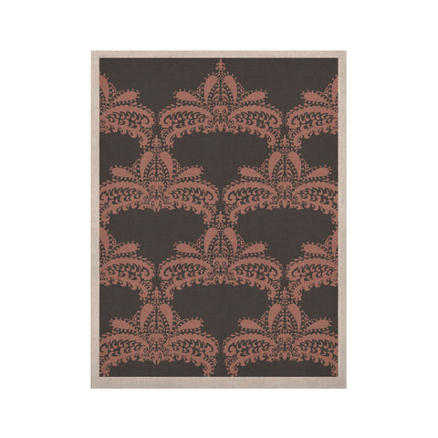 "Nandita Singh ""Decorative Motif Pink"" Bronze Floral KESS Naturals Canvas (Frame not Included) - KESS InHouse  - 1"