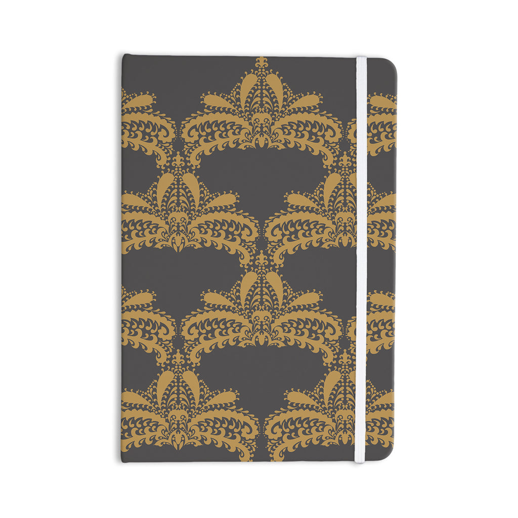 "Nandita Singh ""Decorative Motif Gold"" Copper Floral Everything Notebook - KESS InHouse  - 1"