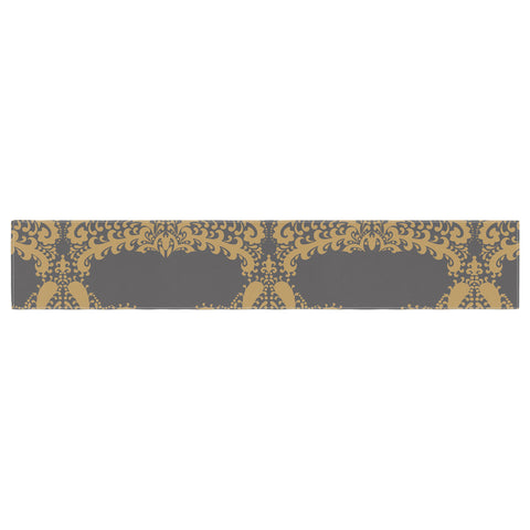 "Nandita Singh ""Decorative Motif Gold"" Copper Floral Table Runner - KESS InHouse  - 1"