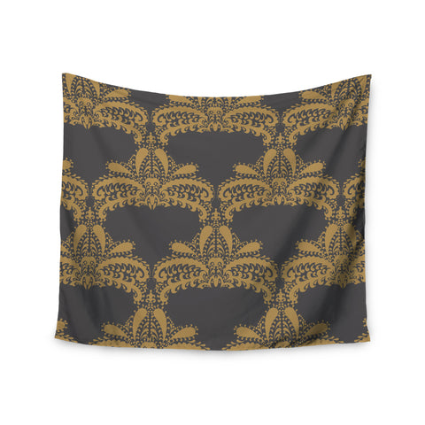 "Nandita Singh ""Decorative Motif Gold"" Copper Floral Wall Tapestry - KESS InHouse  - 1"