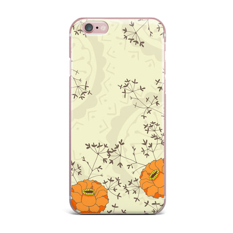 "Nandita Singh ""Flowers and Twigs"" Tan Orange iPhone Case - KESS InHouse"
