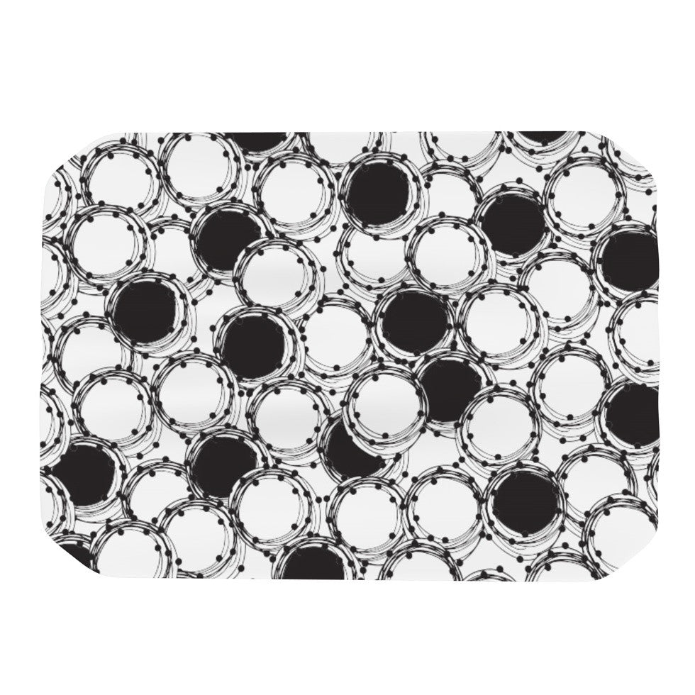 "Nandita Singh ""Beaded Bangles"" Black White Place Mat - KESS InHouse"