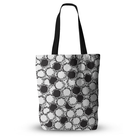 "Nandita Singh ""Beaded Bangles"" Black White Everything Tote Bag - KESS InHouse  - 1"