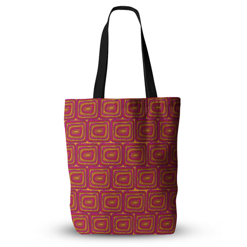 "Nandita Singh ""Bright Squares"" Red Pink Everything Tote Bag - KESS InHouse  - 1"