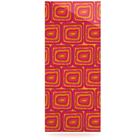 "Nandita Singh ""Bright Squares"" Red Pink Luxe Rectangle Panel - KESS InHouse  - 1"