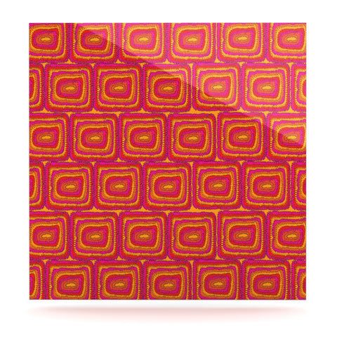 "Nandita Singh ""Bright Squares"" Red Pink Luxe Square Panel - KESS InHouse  - 1"