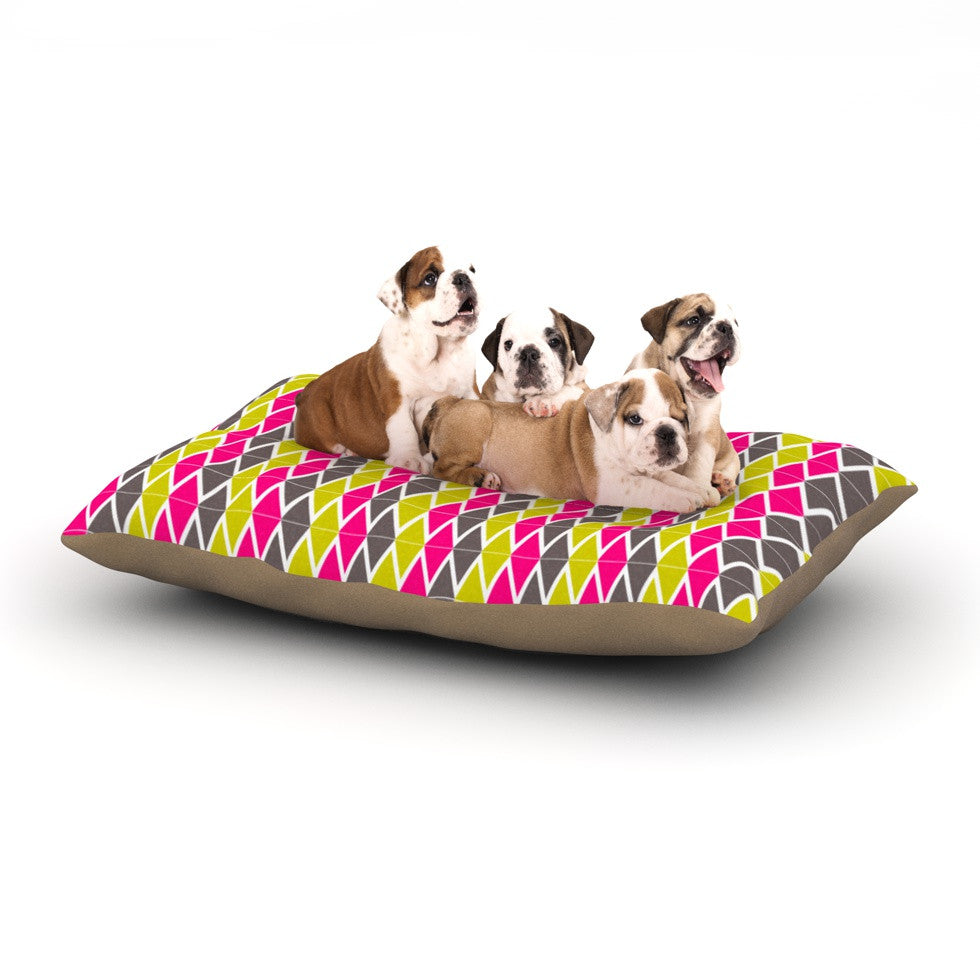 "Nandita Singh ""Bohemian"" Pink Yellow Dog Bed - KESS InHouse  - 1"