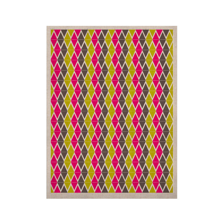 "Nandita Singh ""Bohemian"" Pink Yellow KESS Naturals Canvas (Frame not Included) - KESS InHouse  - 1"