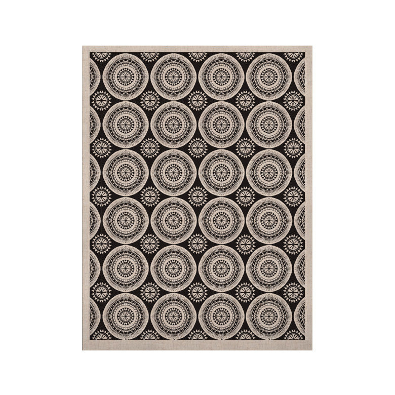 "Nandita Singh ""Circles"" Black White KESS Naturals Canvas (Frame not Included) - KESS InHouse  - 1"
