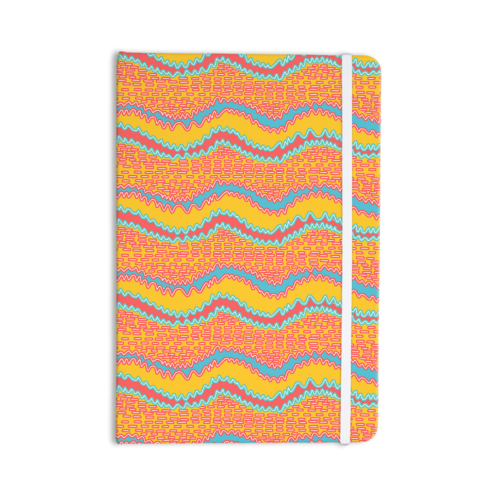 "Nandita Singh ""Pink Waves"" Orange Yellow Everything Notebook - KESS InHouse  - 1"