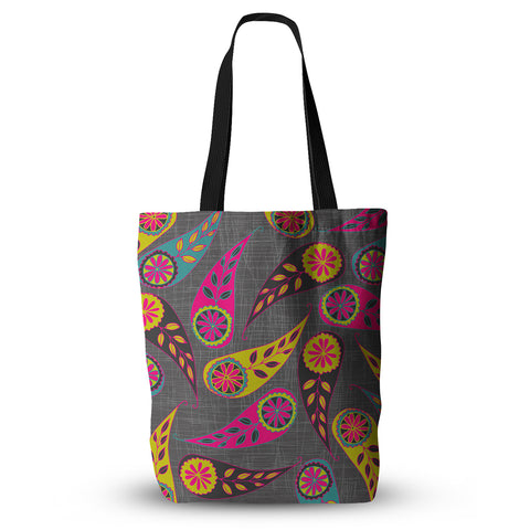 "Nandita Singh ""Bohemian II"" Pink Yellow Everything Tote Bag - KESS InHouse  - 1"