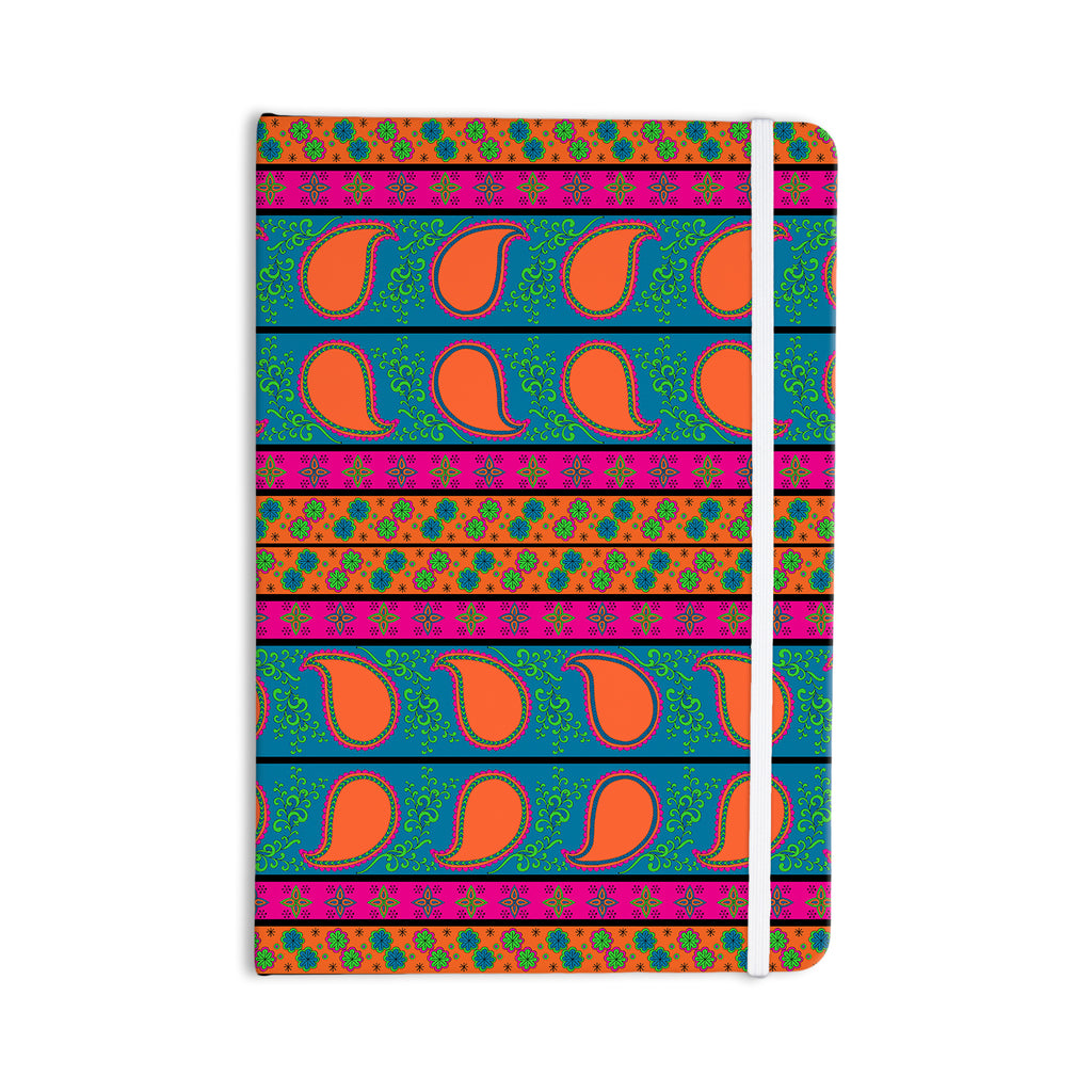 "Nandita Singh ""Bohemian V"" Orange Blue Everything Notebook - KESS InHouse  - 1"