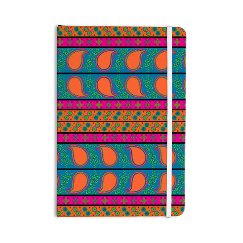 "Nandita Singh ""Bohemian V"" Orange Blue Everything Notebook - Outlet Item"