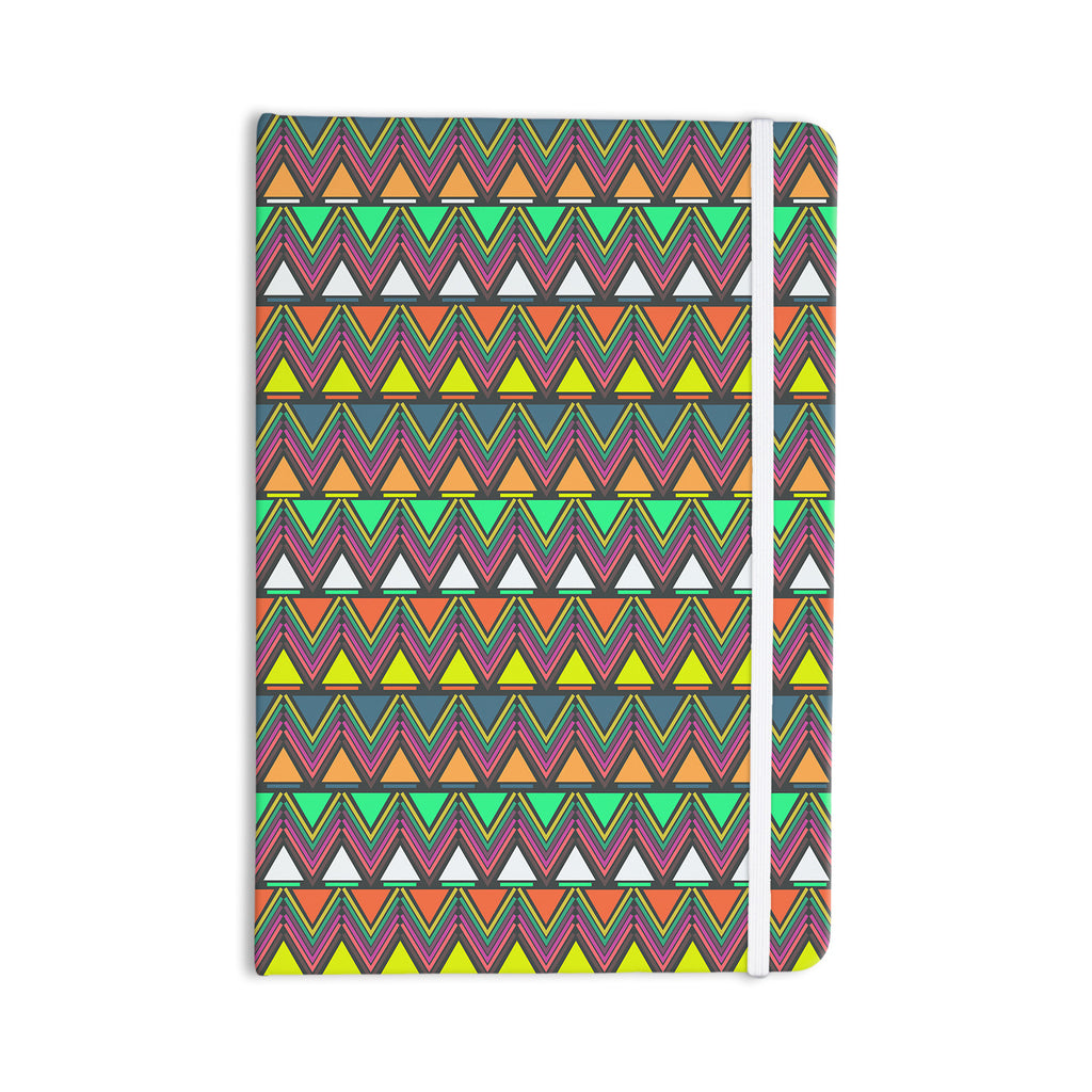 "Nandita Singh ""Pattern Play"" Rainbow Chevron Everything Notebook - KESS InHouse  - 1"