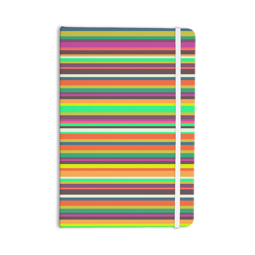 "Nandita Singh ""Pattern Play Stripes"" Rainbow Everything Notebook - KESS InHouse  - 1"