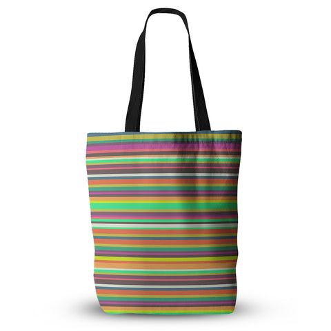 "Nandita Singh ""Pattern Play Stripes"" Rainbow Everything Tote Bag - KESS InHouse  - 1"