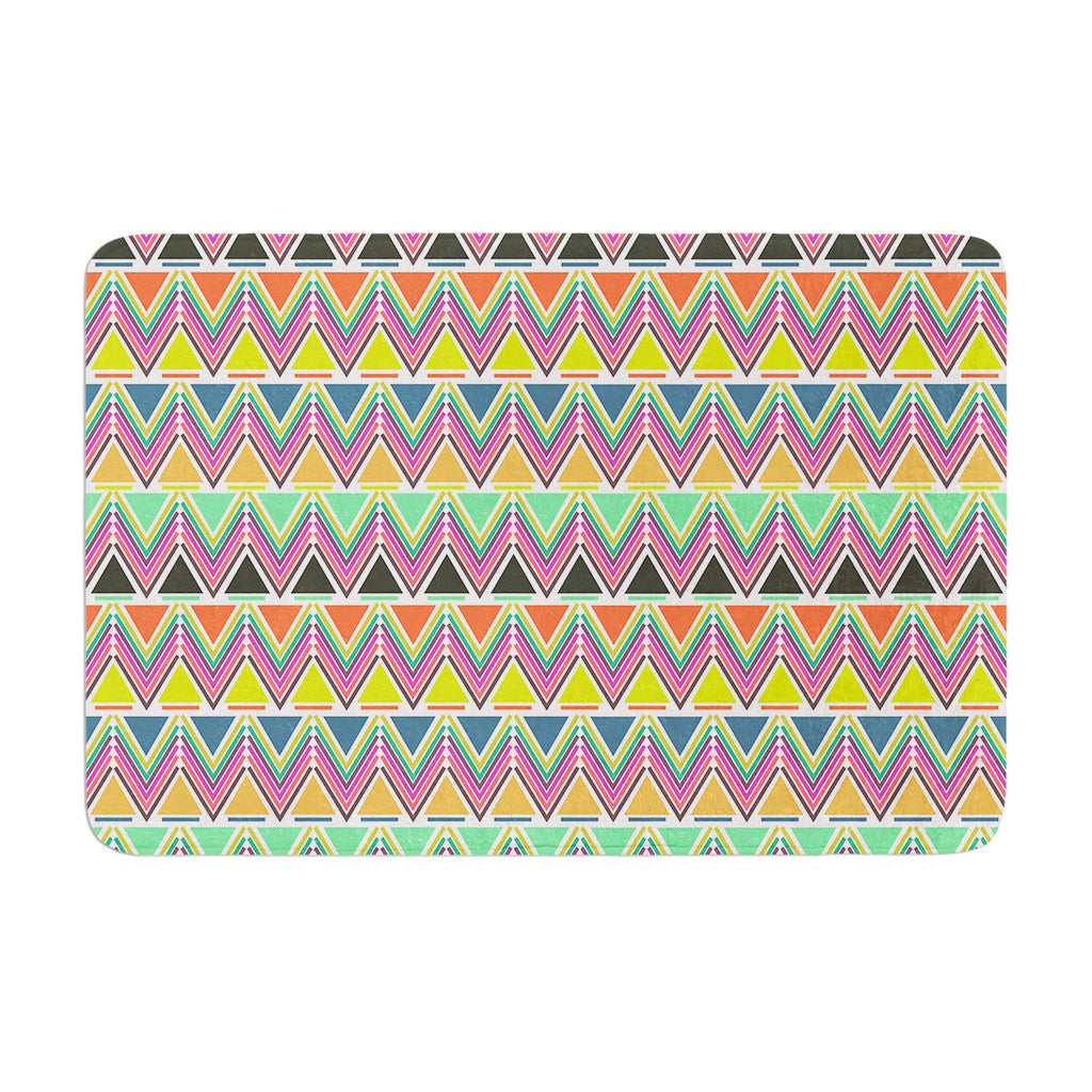 "Nandita Singh ""Pattern Play Multi"" Rainbow Chevron Memory Foam Bath Mat - KESS InHouse"