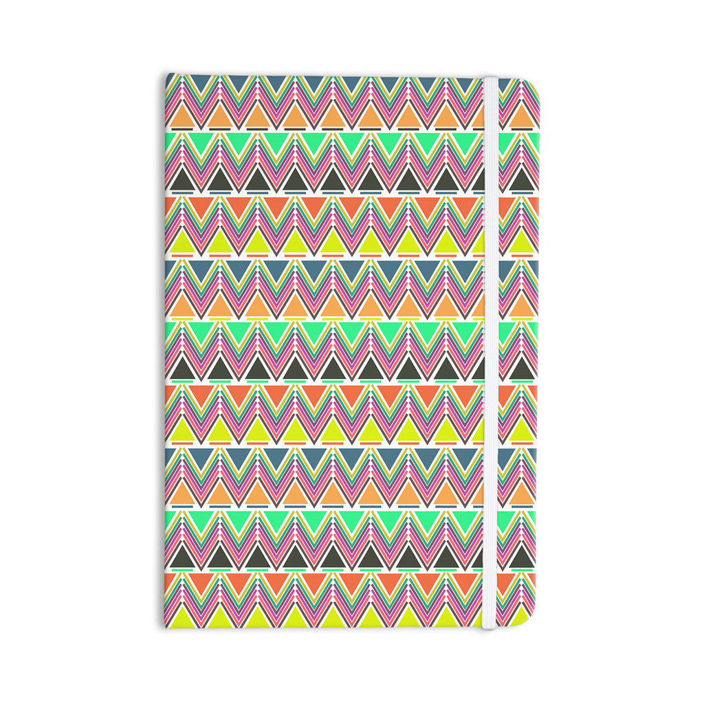 "Nandita Singh ""Pattern Play Multi"" Rainbow Chevron Everything Notebook - KESS InHouse  - 1"