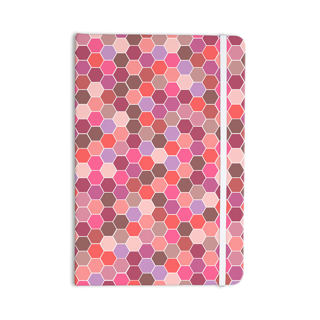 "Nandita Singh ""Blush"" Tiled Pink Everything Notebook - KESS InHouse  - 1"