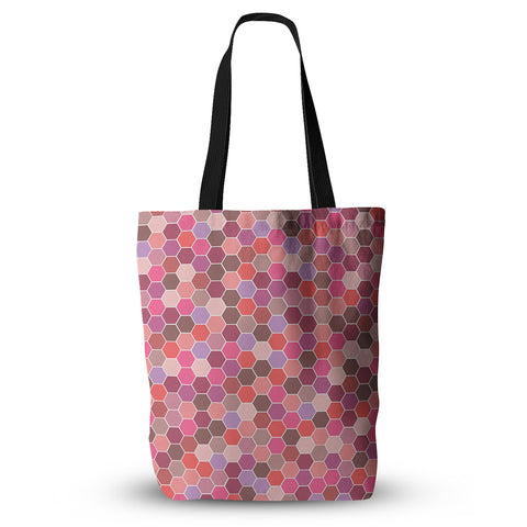"Nandita Singh ""Blush"" Tiled Pink Everything Tote Bag - KESS InHouse  - 1"
