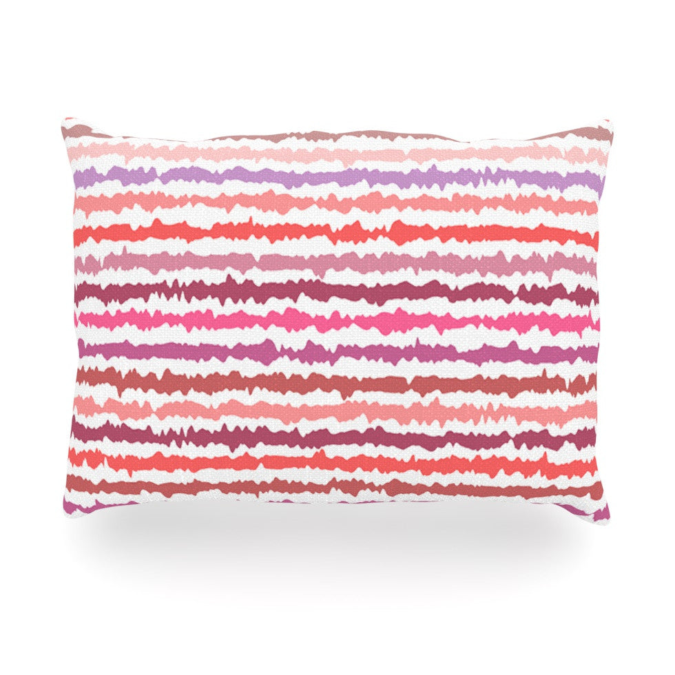 "Nandita Singh ""Blush Stripes"" Pink Striped Oblong Pillow - KESS InHouse"