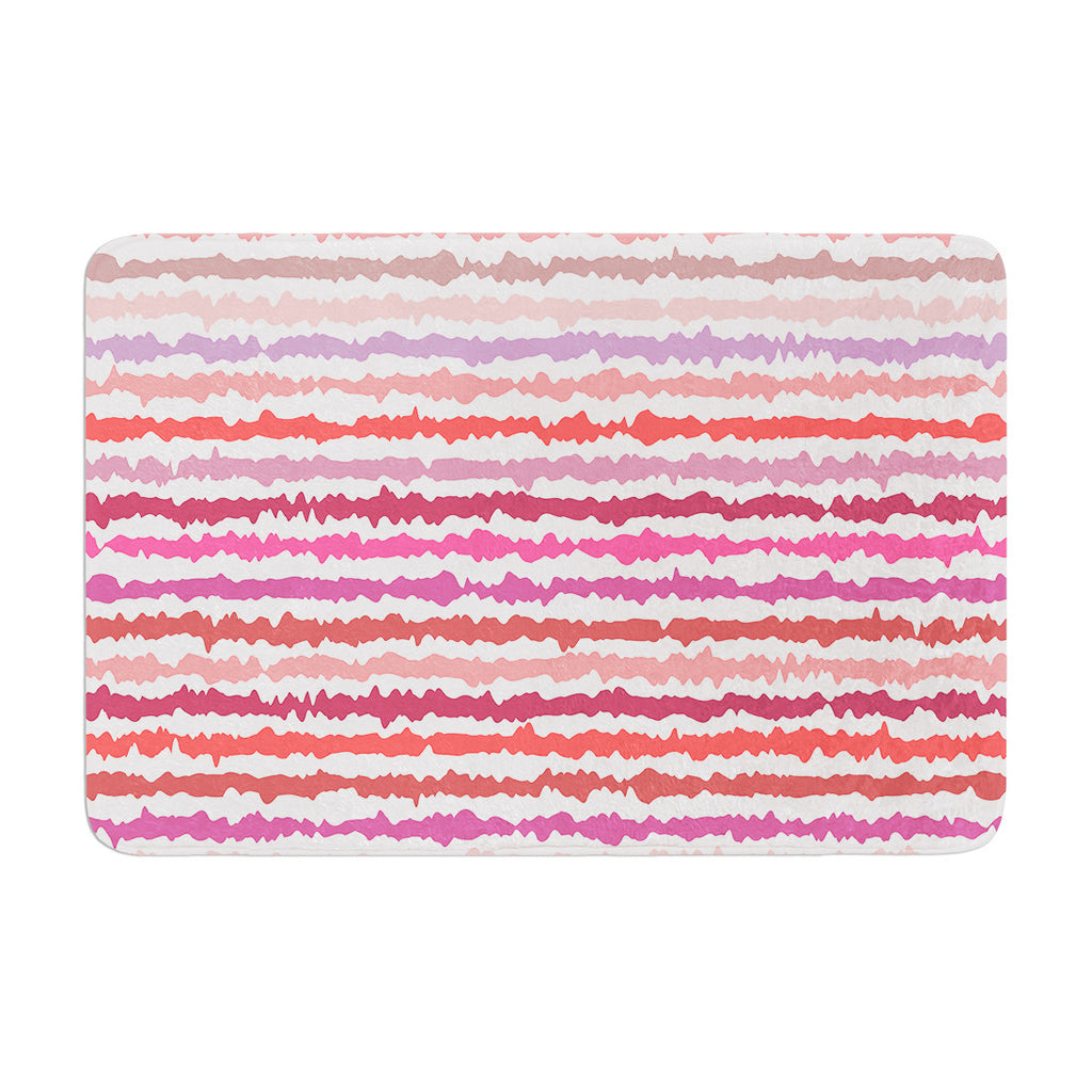 "Nandita Singh ""Blush Stripes"" Pink Striped Memory Foam Bath Mat - KESS InHouse"