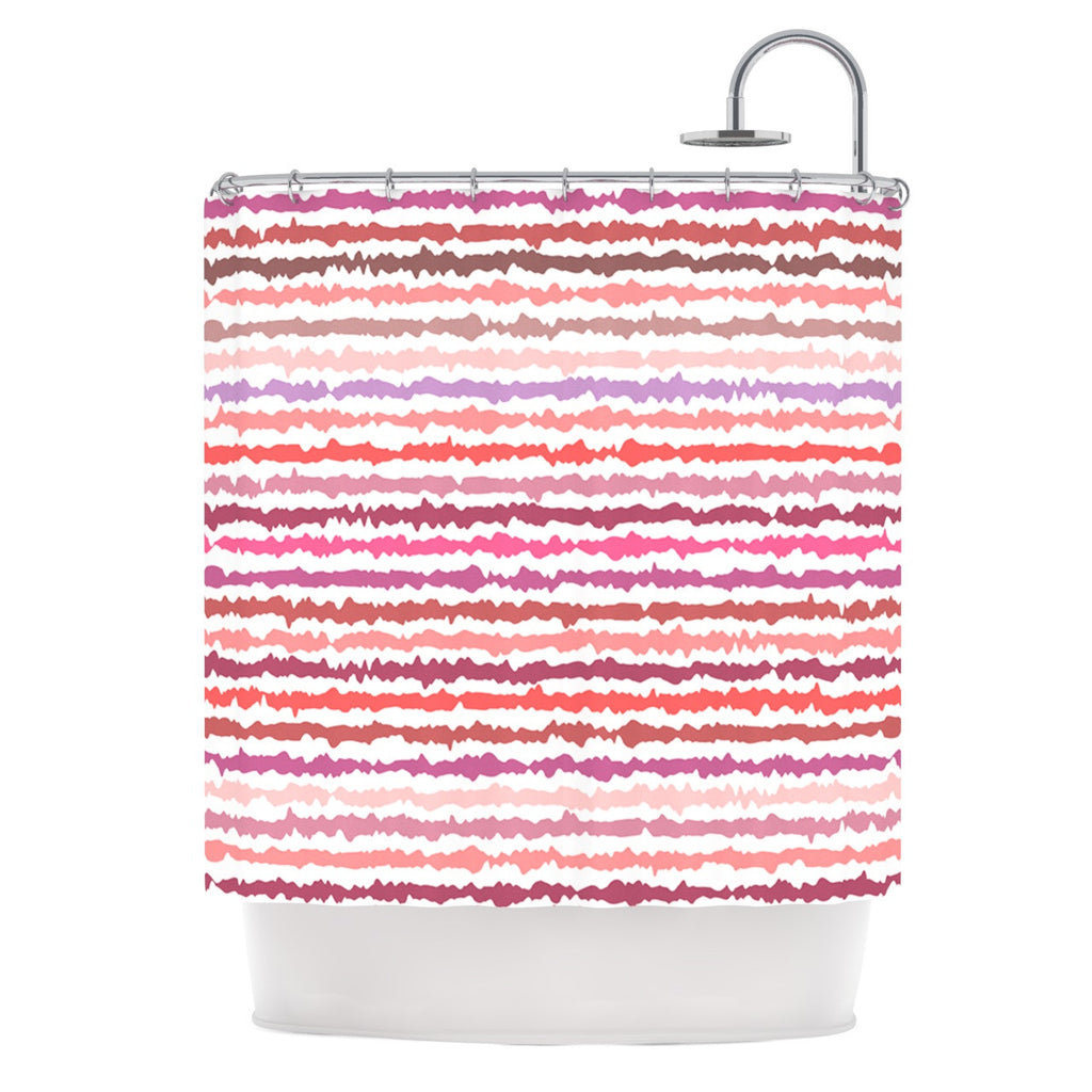 Blush Stripes Shower Curtain By Nandita Singh Kess Inhouse