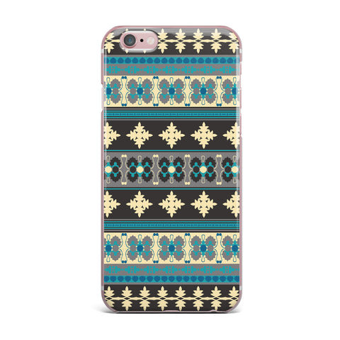 "Nandita Singh ""Borders Blue"" Teal Yellow iPhone Case - KESS InHouse"