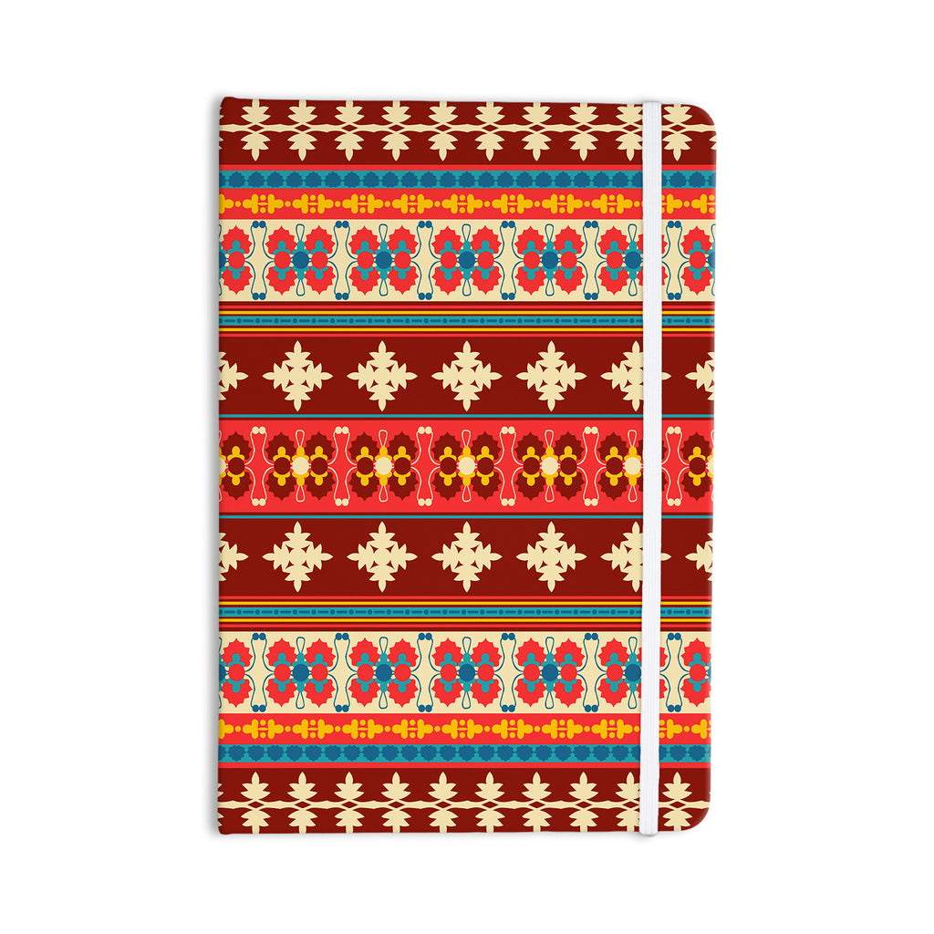 "Nandita Singh ""Borders Red"" Maroon Everything Notebook - KESS InHouse  - 1"