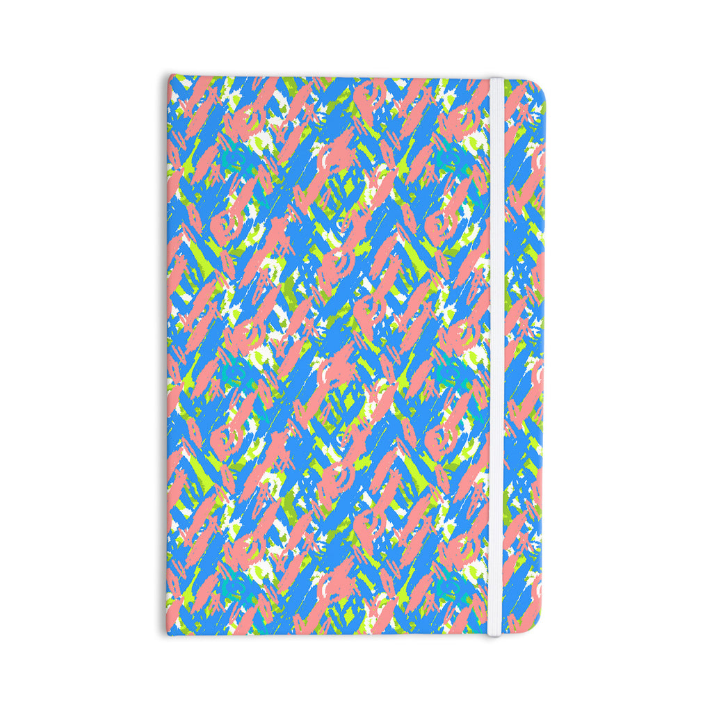 "Nandita Singh ""Abstract Print Blue"" Blue Pink Everything Notebook - KESS InHouse  - 1"
