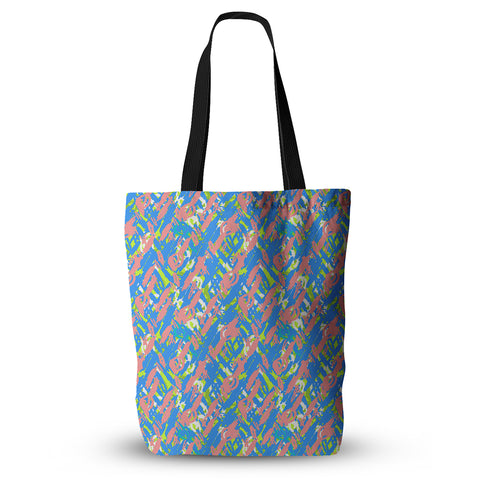 "Nandita Singh ""Abstract Print Blue"" Blue Pink Everything Tote Bag - KESS InHouse  - 1"