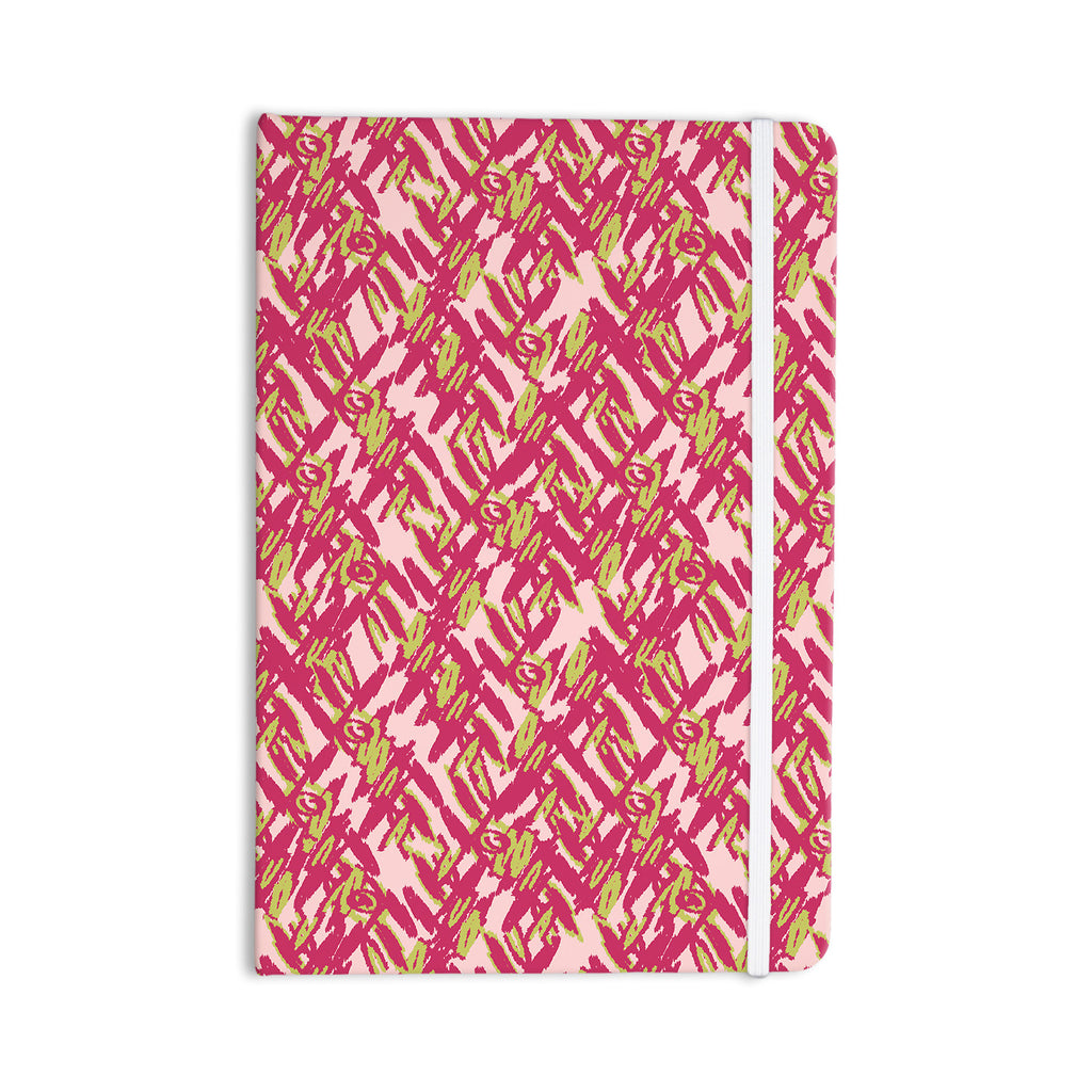 "Nandita Singh ""Abstract Print Pink"" Pink Red Everything Notebook - KESS InHouse  - 1"