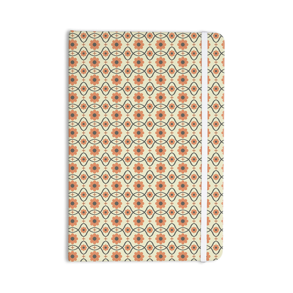 "Nandita Singh ""Floral Peach"" Orange Pattern Everything Notebook - KESS InHouse  - 1"