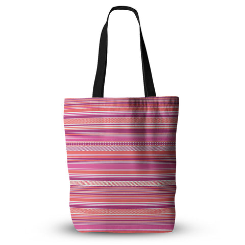 "Nandita Singh ""Pink Ribbons"" Blush Purple Everything Tote Bag - KESS InHouse  - 1"
