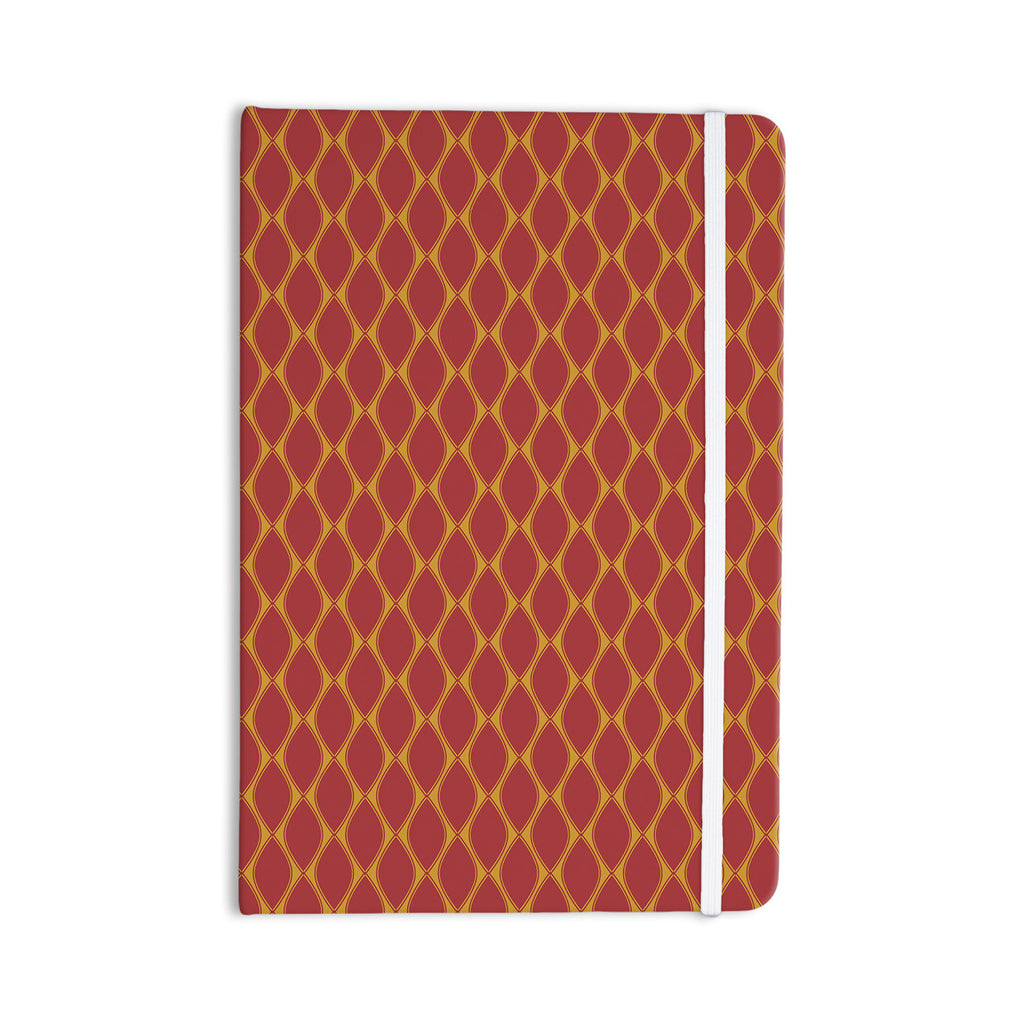 "Nandita Singh ""Marsala & Mustard"" Red Pattern Everything Notebook - KESS InHouse  - 1"