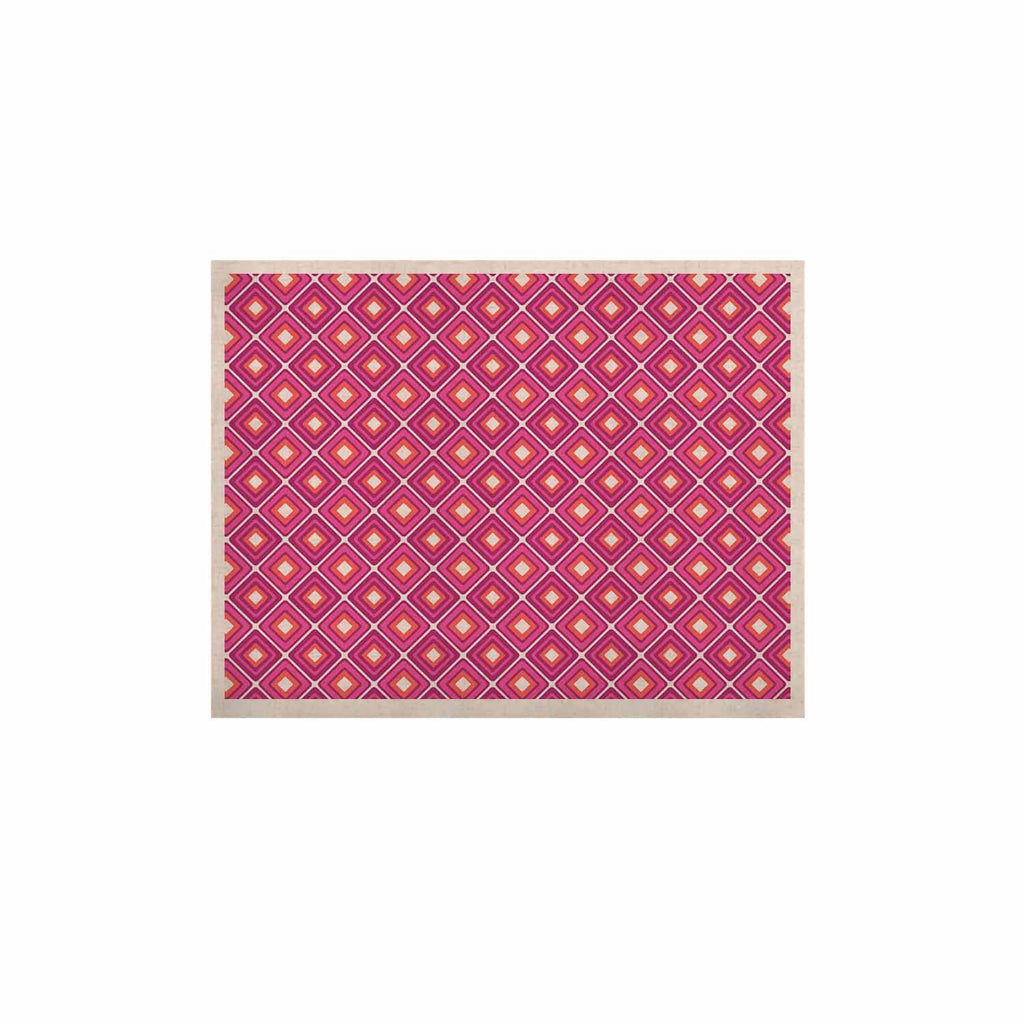 "Nandita Singh ""Bright Squares-Pink"" Pattern KESS Naturals Canvas (Frame not Included) - KESS InHouse  - 1"