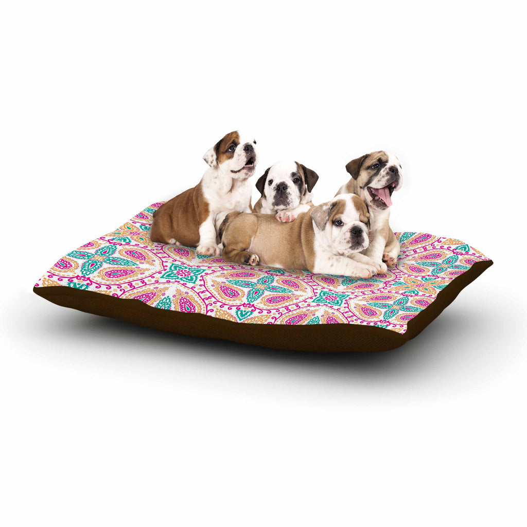 "Nandita Singh ""Boho In Multicolor"" Pink Abstract Dog Bed - KESS InHouse  - 1"
