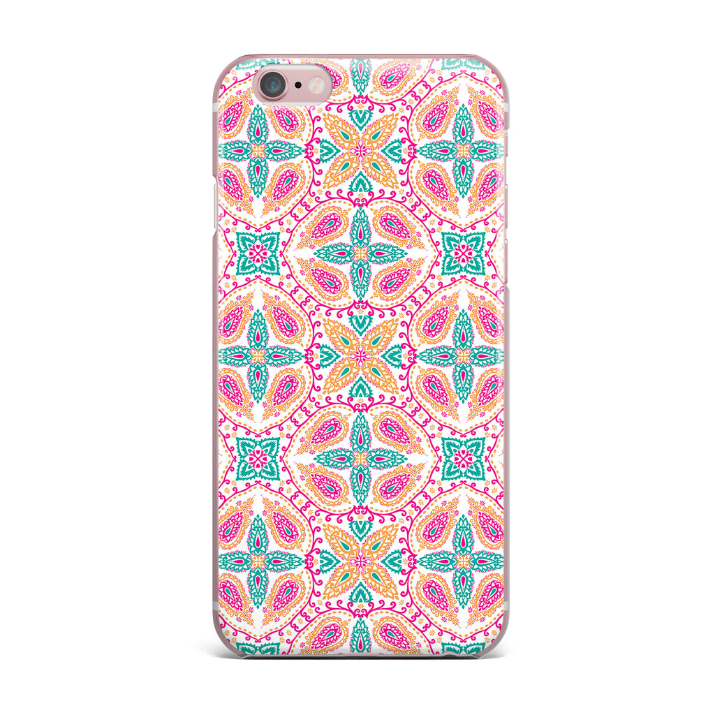 "Nandita Singh ""Boho In Multicolor"" Pink Abstract iPhone Case - KESS InHouse"