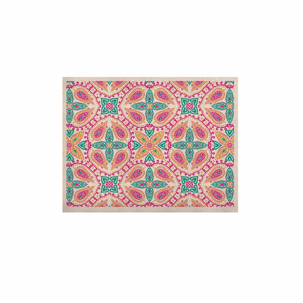 "Nandita Singh ""Boho In Multicolor"" Pink Abstract KESS Naturals Canvas (Frame not Included) - KESS InHouse  - 1"