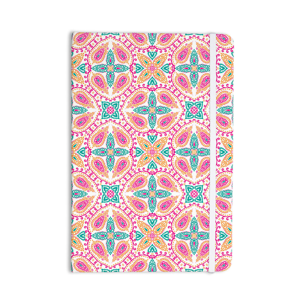 "Nandita Singh ""Boho In Multicolor"" Pink Abstract Everything Notebook - KESS InHouse  - 1"