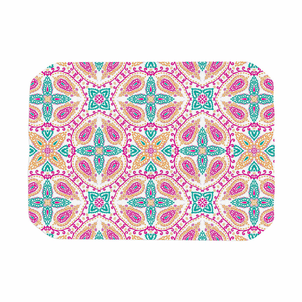 "Nandita Singh ""Boho In Multicolor"" Pink Abstract Place Mat - KESS InHouse"