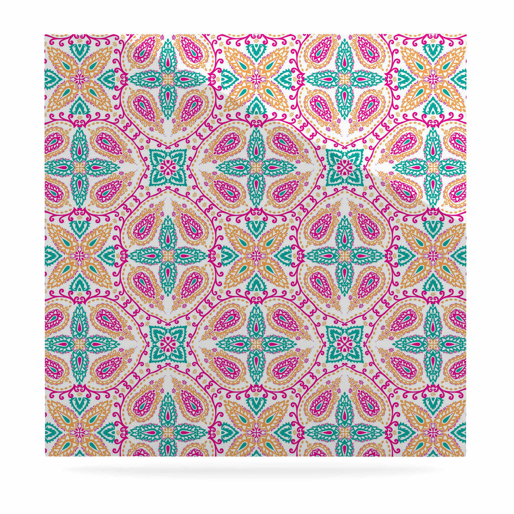 "Nandita Singh ""Boho In Multicolor"" Pink Abstract Luxe Square Panel - KESS InHouse  - 1"