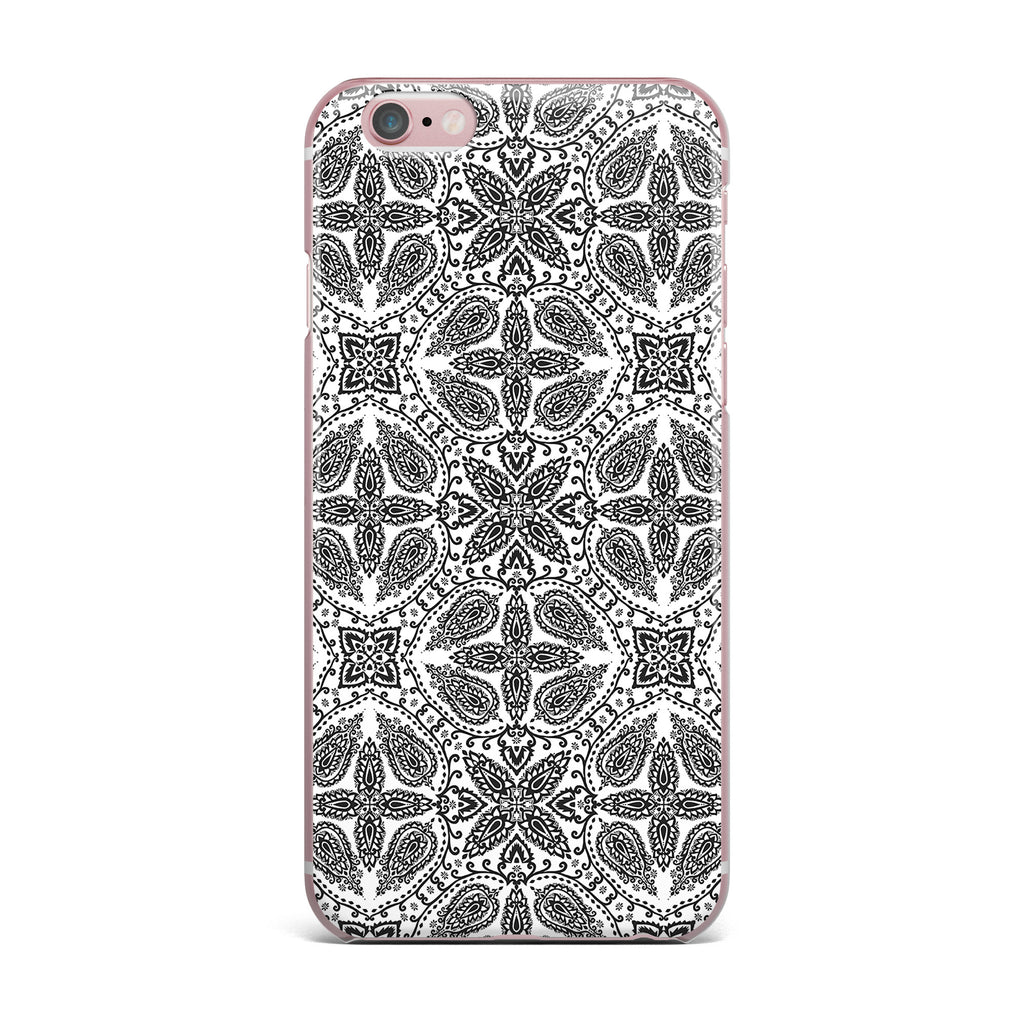 "Nandita Singh ""Boho In Black And White"" Grey Pattern iPhone Case - KESS InHouse"
