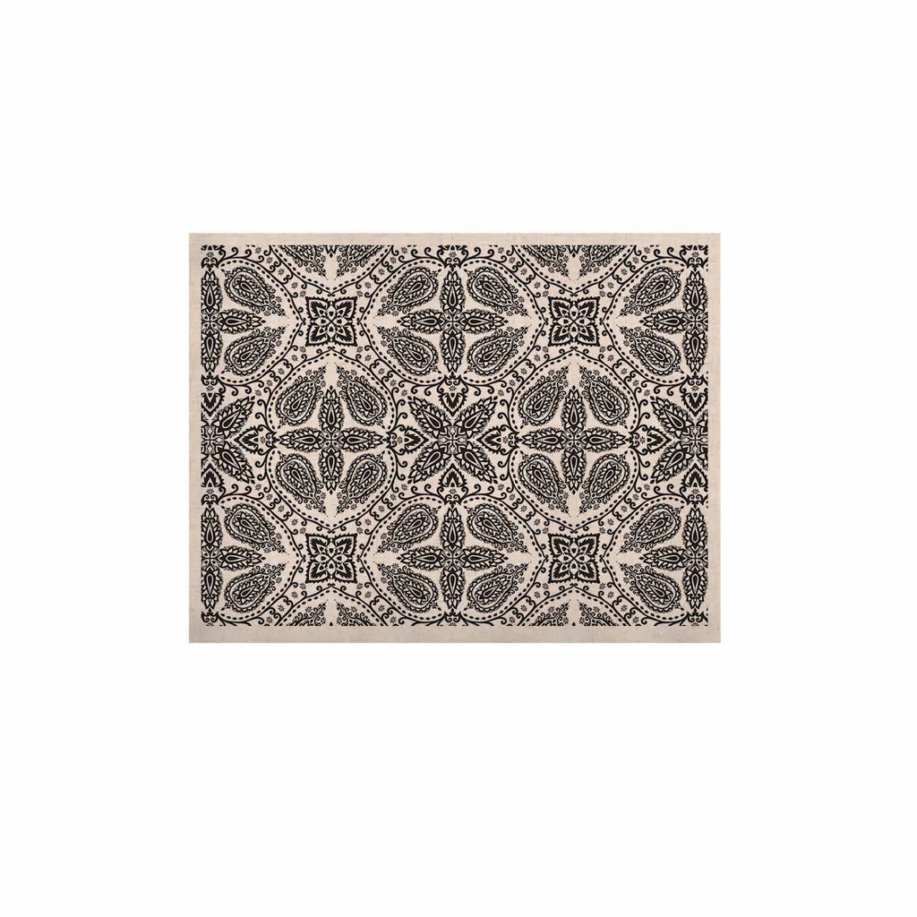"Nandita Singh ""Boho In Black And White"" Grey Pattern KESS Naturals Canvas (Frame not Included) - KESS InHouse  - 1"