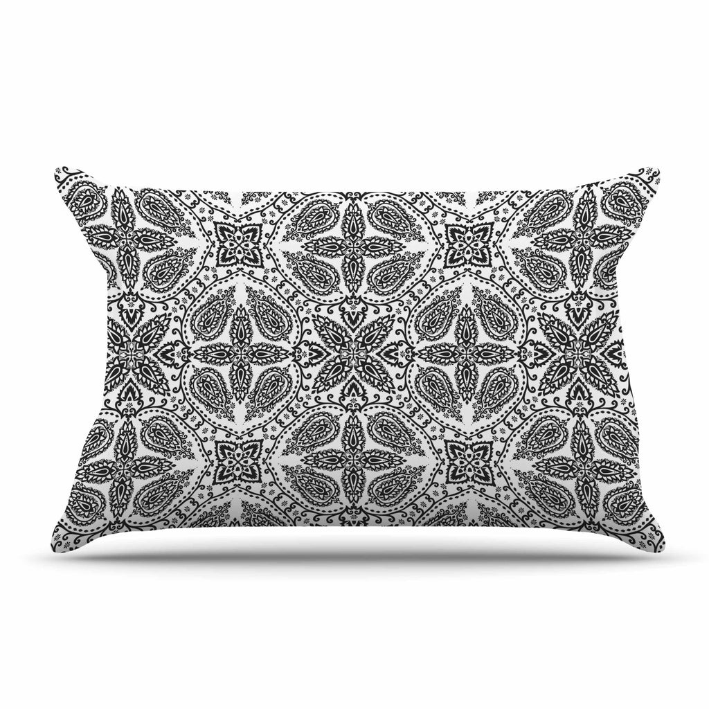 "Nandita Singh ""Boho In Black And White"" Grey Pattern Pillow Sham - KESS InHouse"