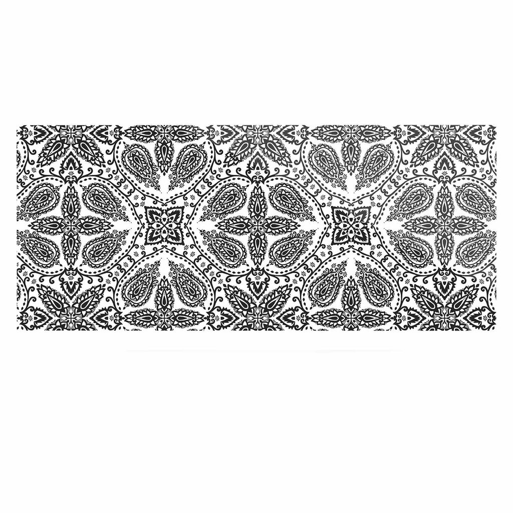 "Nandita Singh ""Boho In Black And White"" Grey Pattern Luxe Rectangle Panel - KESS InHouse  - 1"
