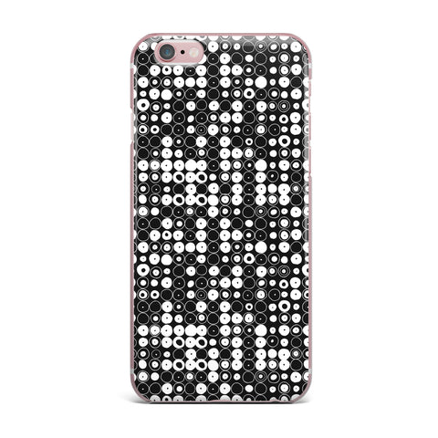 "Nandita Singh ""White & Black Funny Polka Dots "" Black Abstract iPhone Case - KESS InHouse"